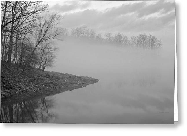 Lake Chatuge Lost In Fog Greeting Card by Kenny Francis