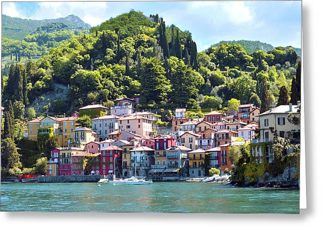 Greeting Card featuring the photograph Lake Como - Italy by Haleh Mahbod