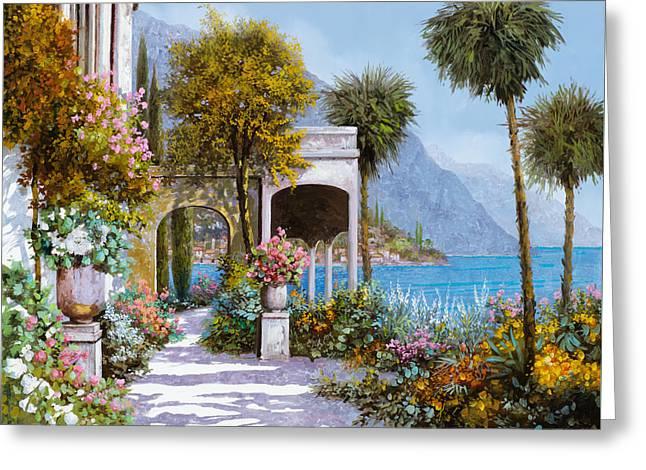 Lake Como-la Passeggiata Al Lago Greeting Card