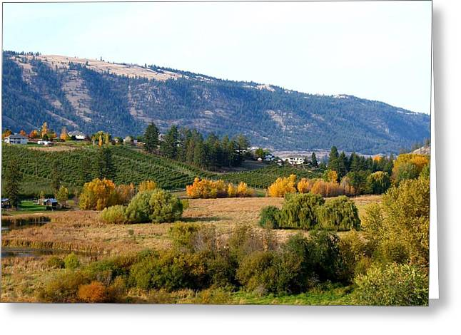 Lake Country Landscape Greeting Card