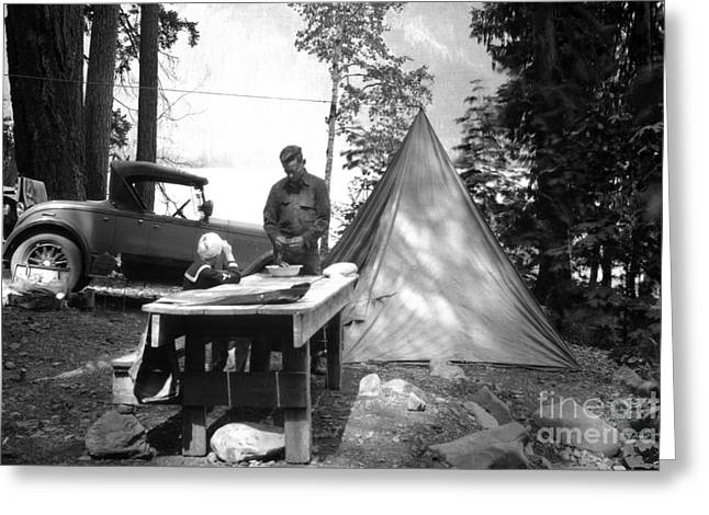 Lake Crescent Camp Site Greeting Card