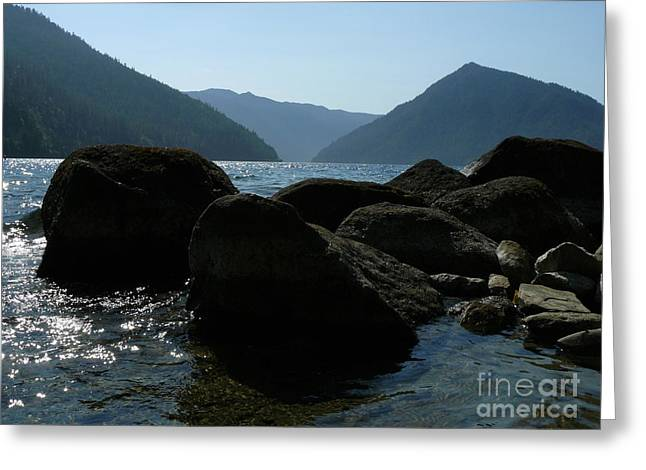 Greeting Card featuring the photograph Lake Crescent by Jane Ford