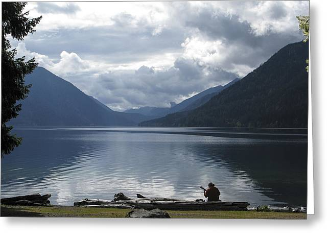 Lake Crescent Greeting Card