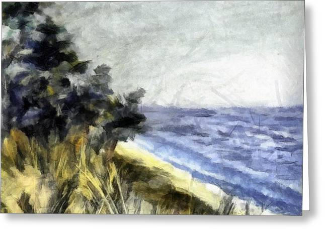 Lake From The Dunes Greeting Card
