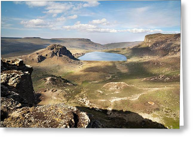Lake Garba Guracha, Which Is An Truly Greeting Card by Martin Zwick