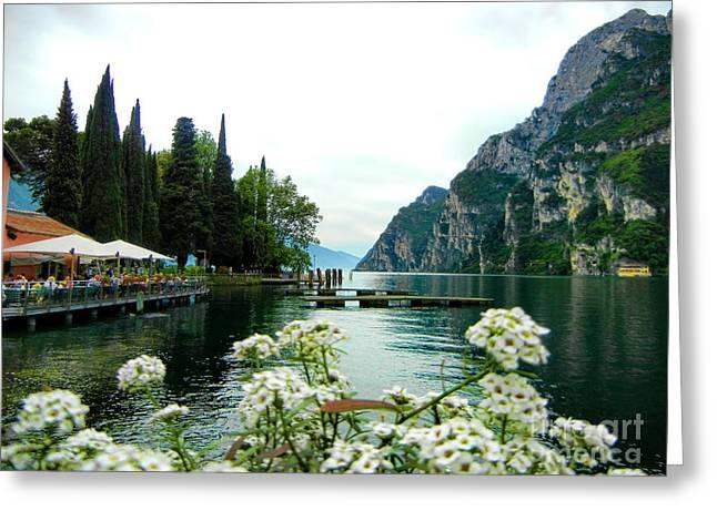 Lake Garda Greeting Card by Mariola Bitner