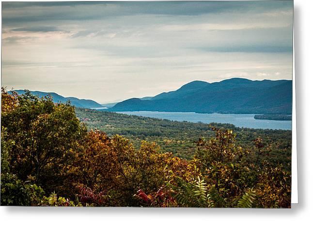 Lake George Greeting Card by Sara Frank