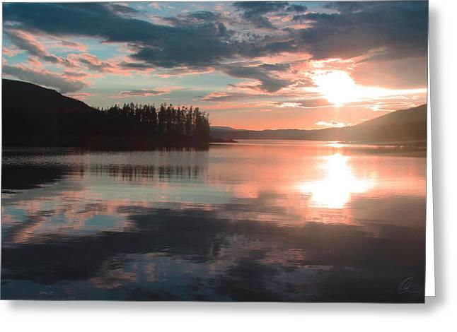 Lake Granby Sunset Greeting Card