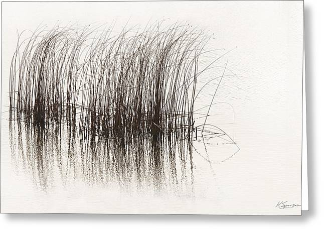 Lake Grasses Greeting Card