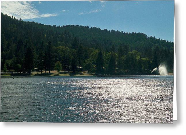 Scenic Lake Photography In Crestline California At Lake Gregory Greeting Card