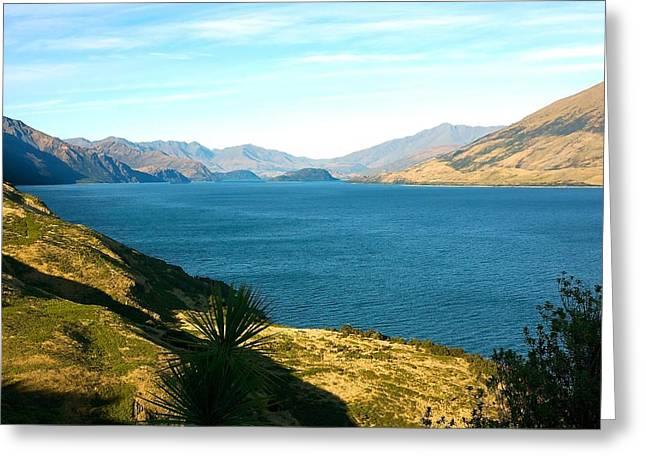 Lake Hawea Greeting Card by Stuart Litoff