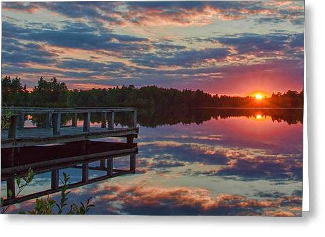 Lake Horicon Sunset 1 Greeting Card