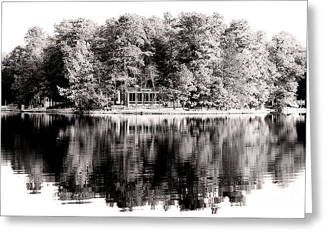 Lake House Greeting Card by John Rizzuto