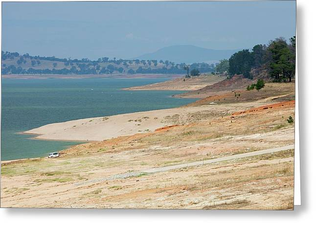 Lake Hume In Drought Greeting Card