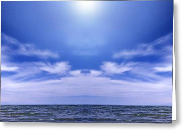 Lake Huron And Sky Greeting Card by Vast Photography