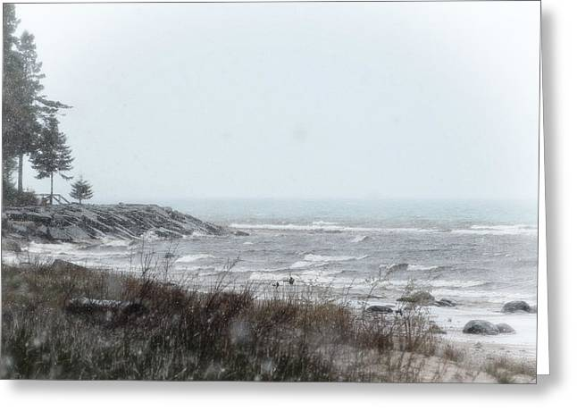 Lake Huron Shorleline Greeting Card