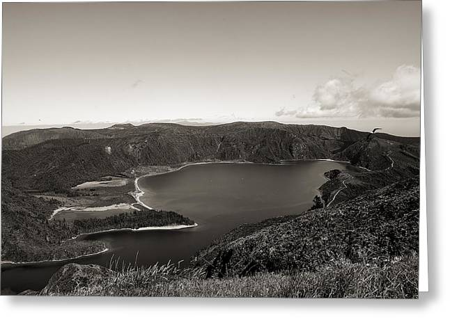 Lake In A Crater Greeting Card