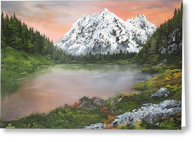 Greeting Card featuring the painting Lake In Austria by Jean Walker