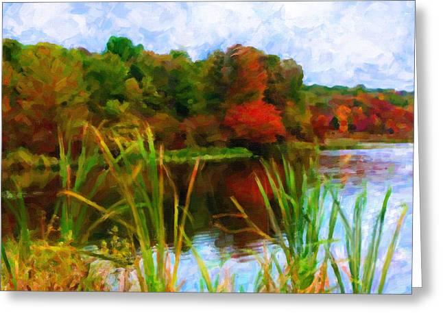 Lake In Early Fall Greeting Card