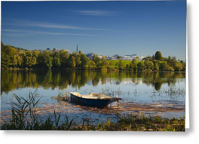 Lake In Switzerland Greeting Card