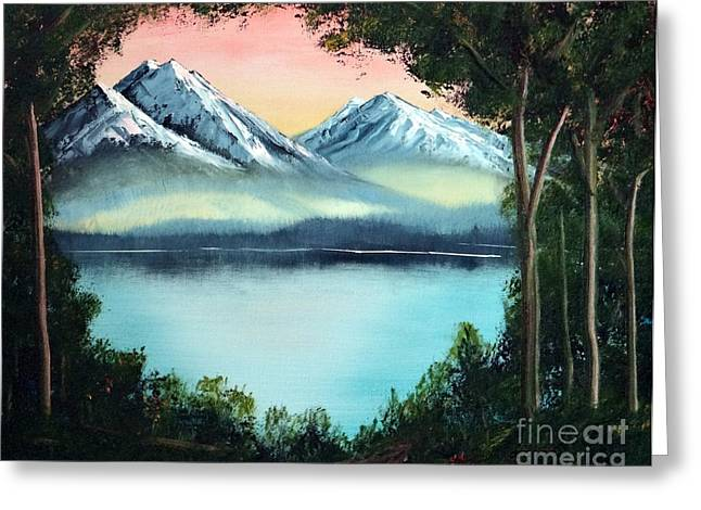 Lake In The Forest Greeting Card by Stephen Schaps