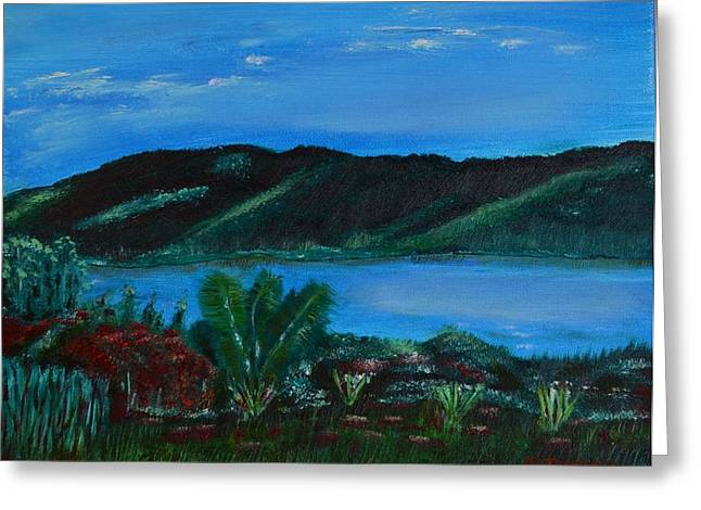 Lake In The Mountains Greeting Card by Melvin Turner