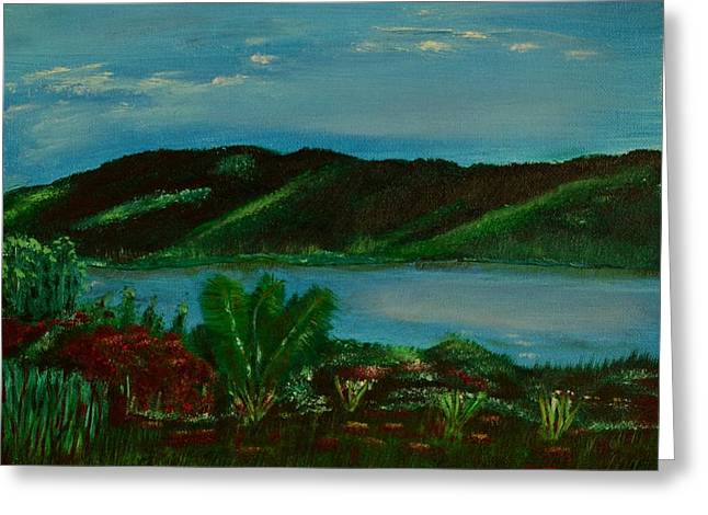 Lake In The Mountains Photo Greeting Card by Melvin Turner