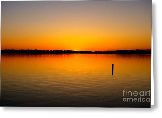 Greeting Card featuring the photograph Lake Independence Sunset by Jacqueline Athmann