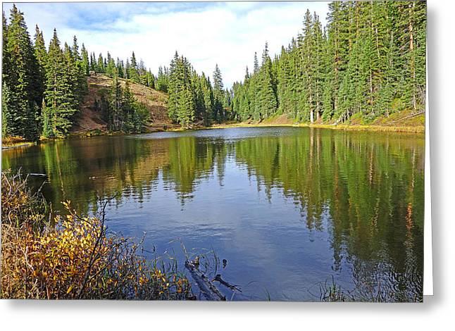Lake Irene In Autumn Study 13-4 Greeting Card