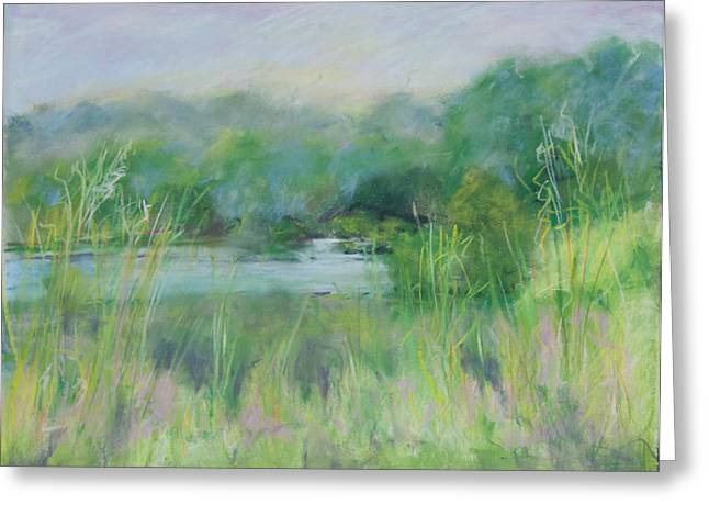 Lake Isaac Impressions Greeting Card by Lee Beuther