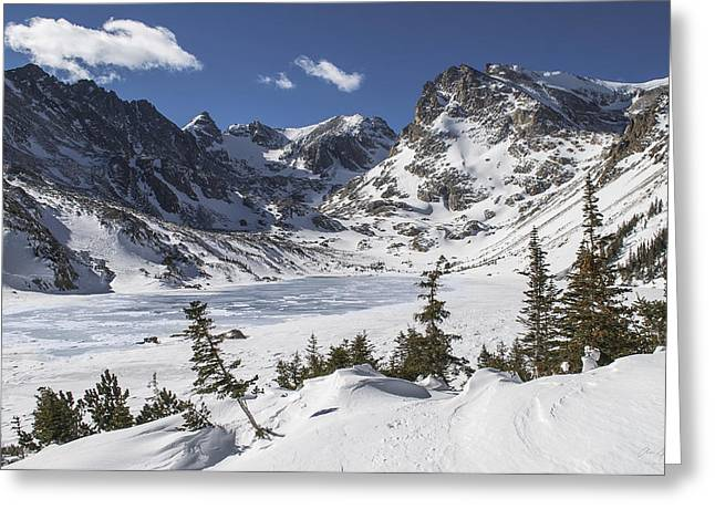 Lake Isabelle Greeting Card by Aaron Spong