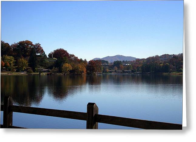 Lake Junaluska In The Mountains Greeting Card by Paula Tohline Calhoun