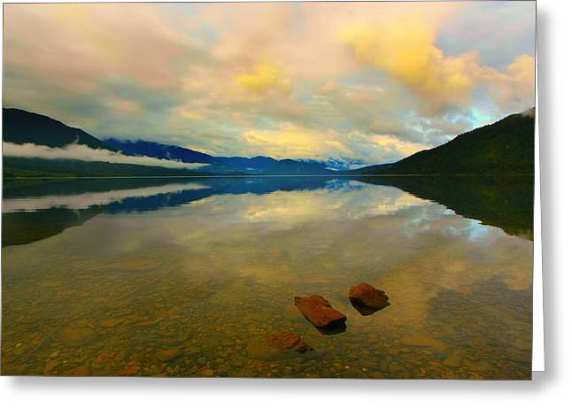Lake Kaniere New Zealand Greeting Card by Amanda Stadther