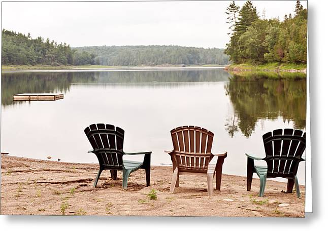 Greeting Card featuring the photograph Lake Landscape by Marek Poplawski