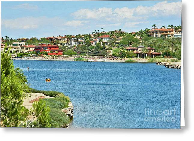 Greeting Card featuring the photograph Lake Las Vegas In May by Emmy Marie Vickers