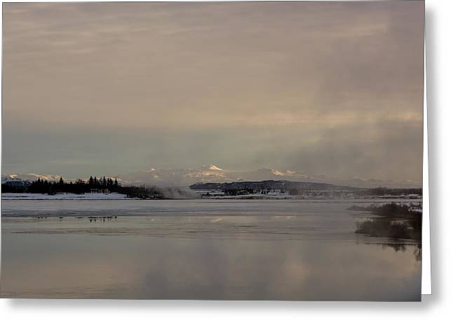 Lake Laugavatn Greeting Card by Ingunn Mjoll Sigurdardottir