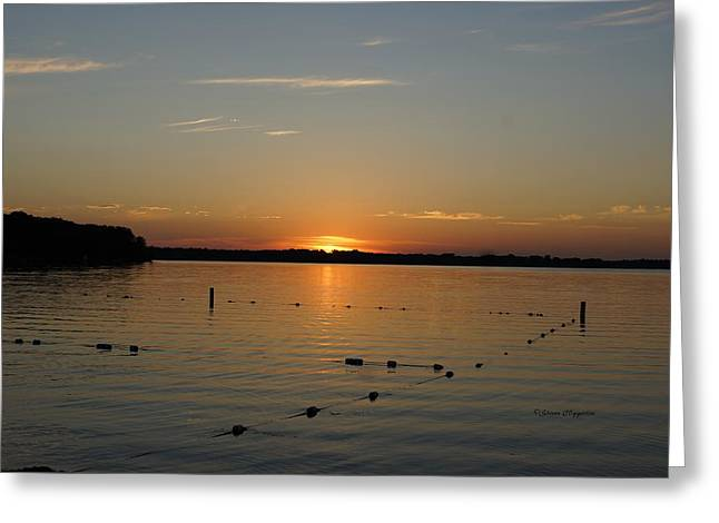 Lake Le Homme Dieu Sunset Greeting Card