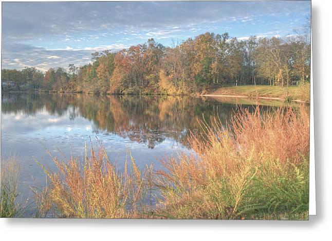 Lake Lenape In Autumn  Greeting Card