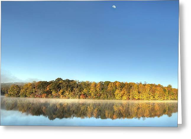 Lake Logan Fall Panorama Greeting Card