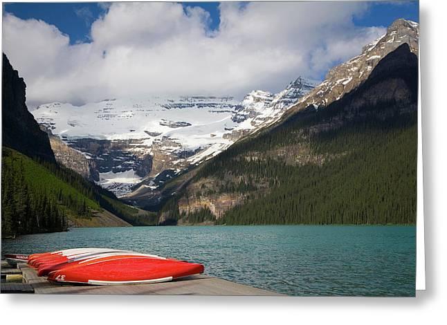 Lake Louise, Banff National Park Greeting Card by Peter Adams