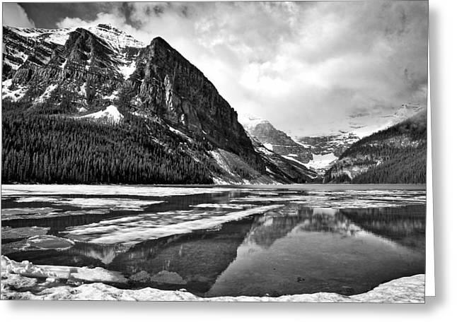 Lake Louise - Black And White #3 Greeting Card