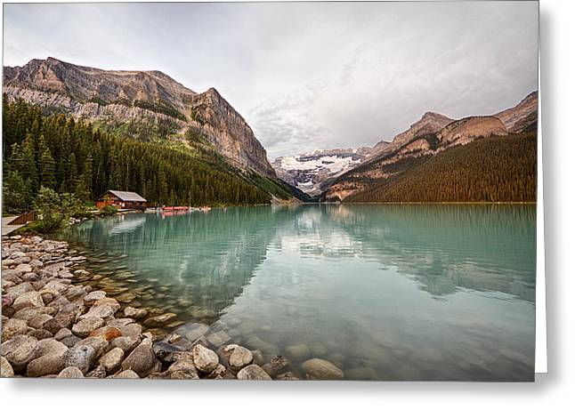 Lake Louise Canoe Rental Greeting Card
