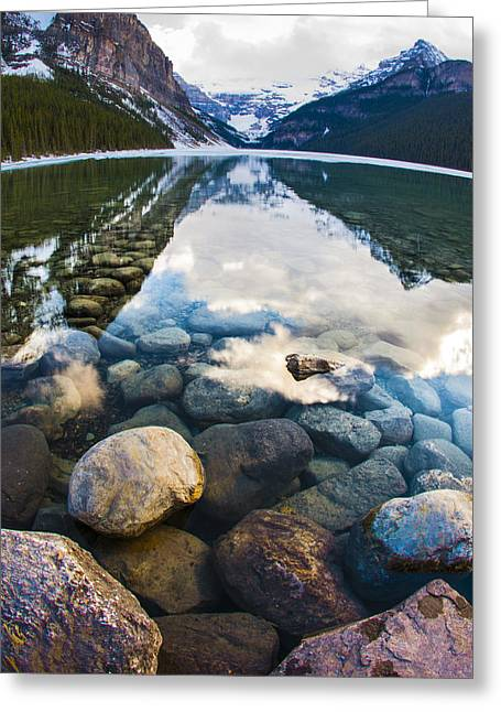 Lake Louise Greeting Card by Chris Halford