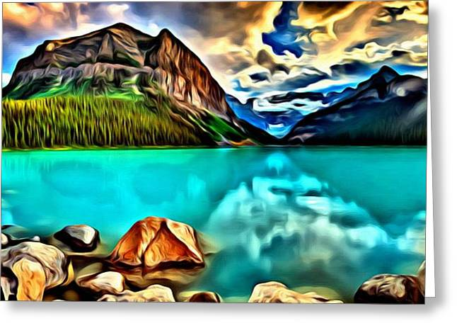 Lake Louise From Banff Canada Greeting Card