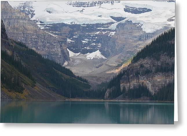 Lake Louise In Fall Greeting Card by Cheryl Miller