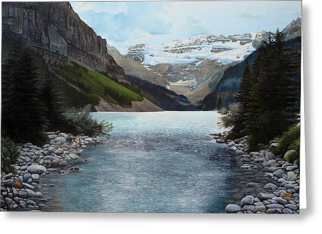Lake Louise Greeting Card by Jennifer Hotai