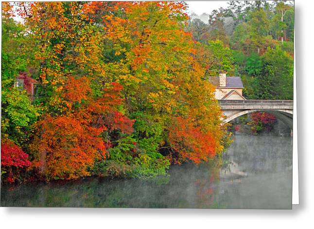 Greeting Card featuring the photograph Lake Lure Autumn by Marion Johnson