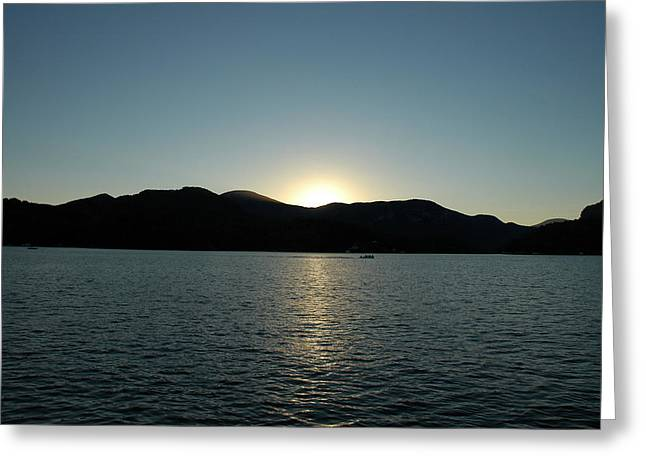 Greeting Card featuring the photograph Lake Lure Sunset by Allen Carroll