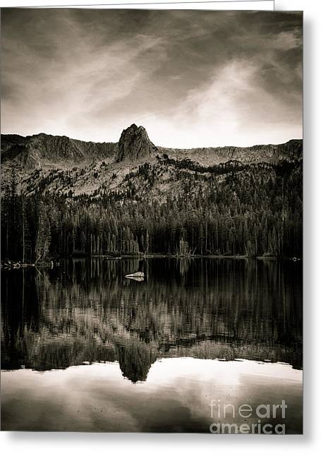 Lake Mamie Black And White Greeting Card by Kelly Wade