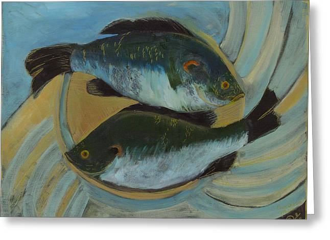 Lake Martin Fish Greeting Card